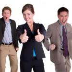 business women, business men, working women