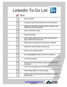LinkedIn to do